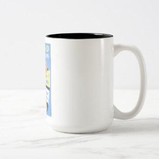 Vintage Air Raid Precautions WPA Poster Two-Tone Coffee Mug