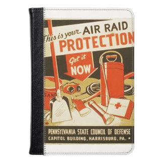 Vintage Air Raid Protection Defense WPA Poster