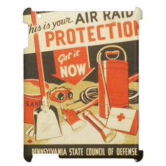 Vintage Air Raid Protection Defense WPA Poster Case For The iPad