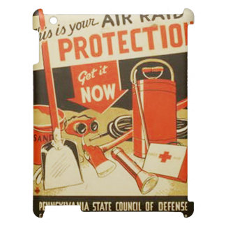 Vintage Air Raid Protection Defense WPA Poster Case For The iPad 2 3 4