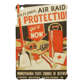 Vintage Air Raid Protection Defense WPA Poster Case For The iPad Mini