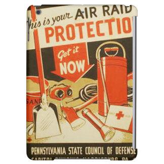 Vintage Air Raid Protection Defense WPA Poster iPad Air Case