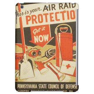 Vintage Air Raid Protection Defense WPA Poster iPad Air Cases