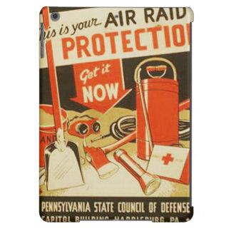 Vintage Air Raid Protection Defense WPA Poster iPad Air Cover