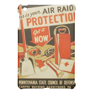 Vintage Air Raid Protection Defense WPA Poster iPad Mini Cover
