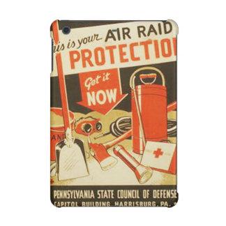 Vintage Air Raid Protection Defense WPA Poster iPad Mini Retina Cases
