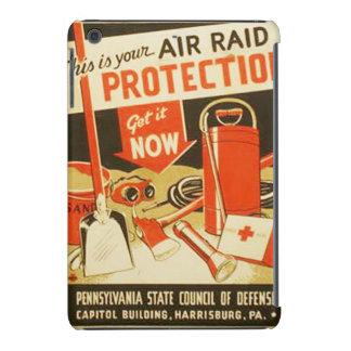 Vintage Air Raid Protection Defense WPA Poster iPad Mini Retina Cover