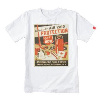Vintage Air Raid Protection Defense WPA Poster Zazzle HEART T-Shirt