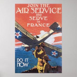 Vintage Air Service Recruitment Poster