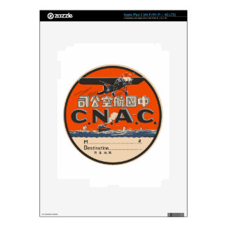 Vintage Air Travel Label Skin For iPad 3
