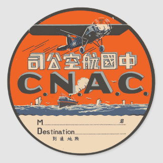 Vintage Air Travel Label Stickers