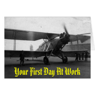Vintage Aircraft 1933, Your First Day At Work Card