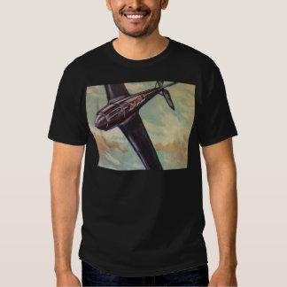 Vintage Aircraft Adult Tee Shirt Black