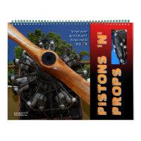 Vintage  Aircraft  Engines Huge 2015 Wall Calendars