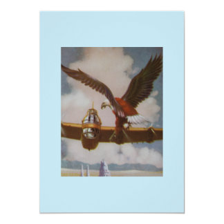 "Vintage Aircraft Invitation 5"" X 7"" Invitation Card"