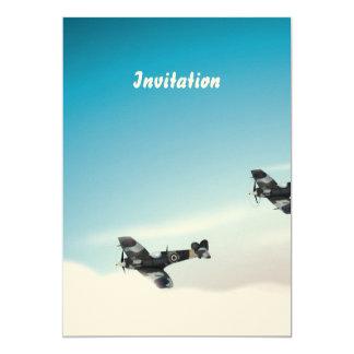 Vintage Aircraft 5x7 Paper Invitation Card