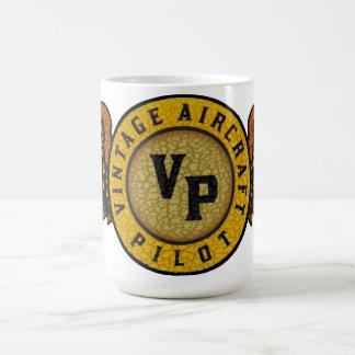 Vintage aircraft pilot mug