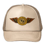 Vintage aircraft pilot trucker hat