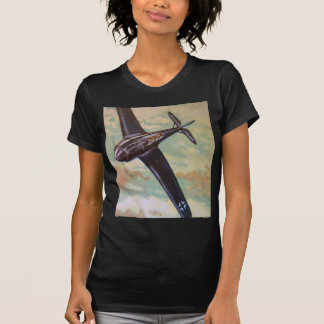 Vintage Aircraft Tee Shirt Fitted Black