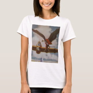 Vintage Aircraft Women Fitted Tee Shirt