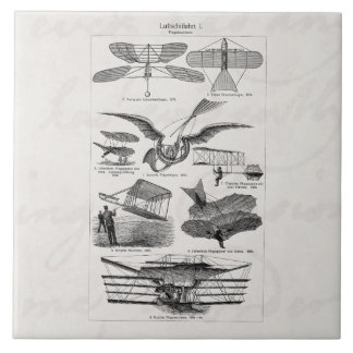 Vintage Aircrafts Airplanes Airships Retro Planes Ceramic Tile