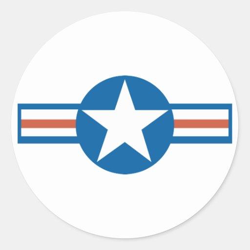Vintage Airforce Logo_2 Classic Round Sticker