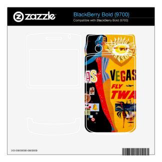 Vintage Airline Travel Las Vegas BlackBerry Skin