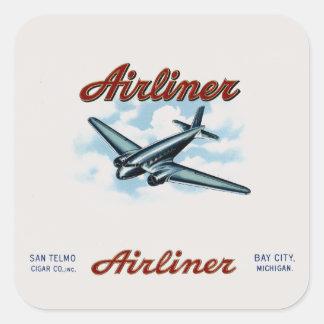 Vintage Airliner Cigar Box Label Retro
