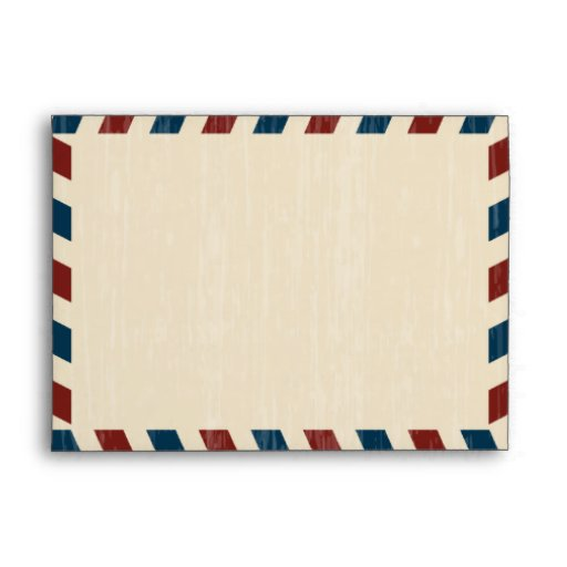 Vintage Airmail A7 Envelope