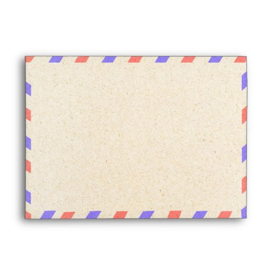 Vintage Airmail A7 Envelopes 5X7 | Zazzle