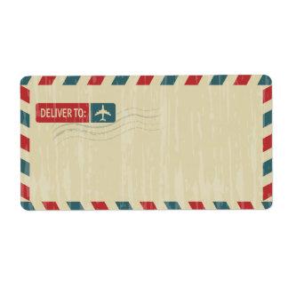 Vintage Airmail Address Mailing | DELIVER TO: Label