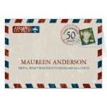 Vintage Airmail Birthday Place card