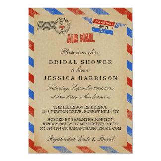 Vintage Airmail Bridal Shower Invitations