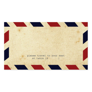 Vintage Airmail Escort Card Double-Sided Standard Business Cards (Pack Of 100)