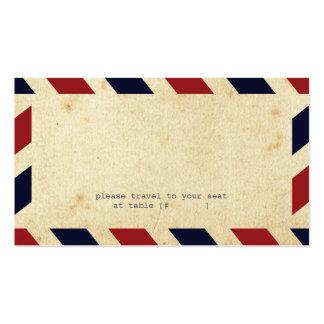 Vintage Airmail Escort Card Business Card