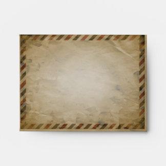 Vintage Airmail Red Damask A2 Envelope