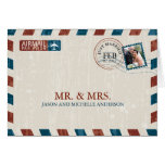Vintage Airmail Wedding Thank You Stationery Note Card