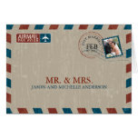 Vintage Airmail Wedding Thank You Cards