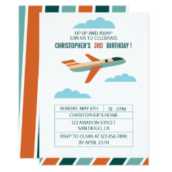 Vintage Airplane Birthday Party/Aeroplane Party Invitation