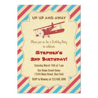 Vintage Airplane Birthday Party Invitation