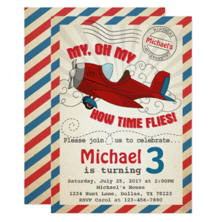 Airplane Invitations Announcements Zazzle
