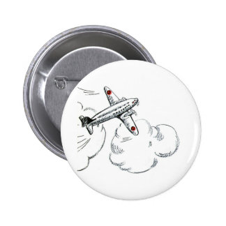 Vintage Airplane Black and White Drawing Pins