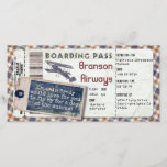 """Vintage Airplane Boarding Pass 2<br><div class=""""desc"""">A custom design for your Vintage Airplane Themed Event.</div>"""