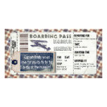 Vintage Airplane Boarding Pass Customized Photo Card