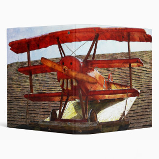 Vintage Airplane by Shirley Taylor 3 Ring Binder