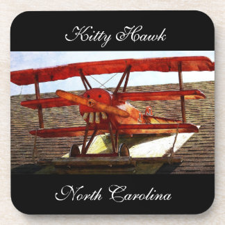 Vintage Airplane by Shirley Taylor Beverage Coaster