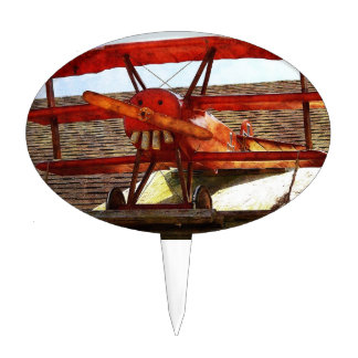 Vintage Airplane by Shirley Taylor Cake Topper