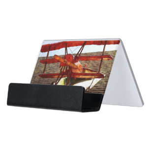 Airplane business card holders cases zazzle vintage airplane by shirley taylor desk business card holder colourmoves