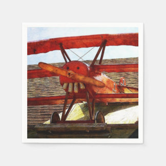 Vintage Airplane by Shirley Taylor Paper Napkin