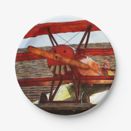 Vintage Airplane by Shirley Taylor Paper Plate